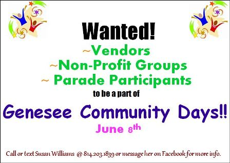 6-8 Genesee Community Days