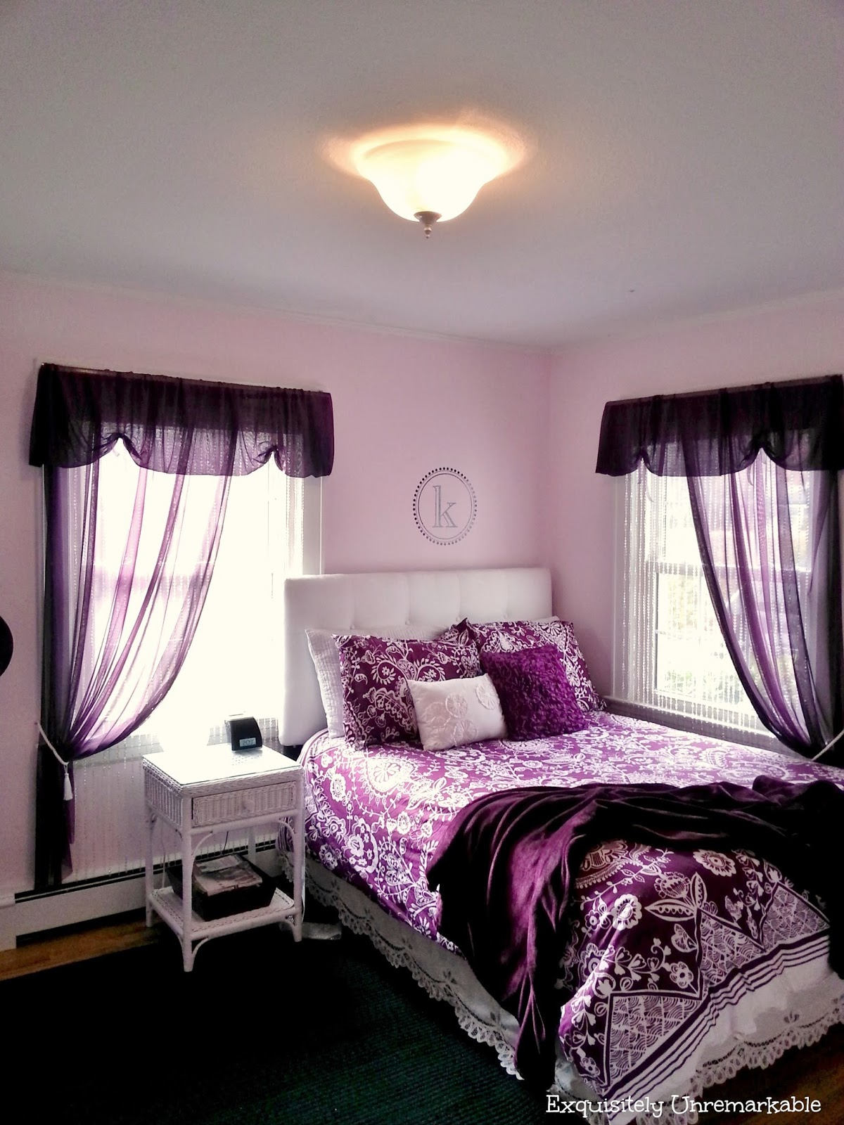 Pretty in purple teen bedroom exquisitely unremarkable - Bed room for teen ...