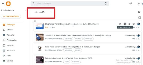 Jumlah Artikel Blog di Approve Google AdSense