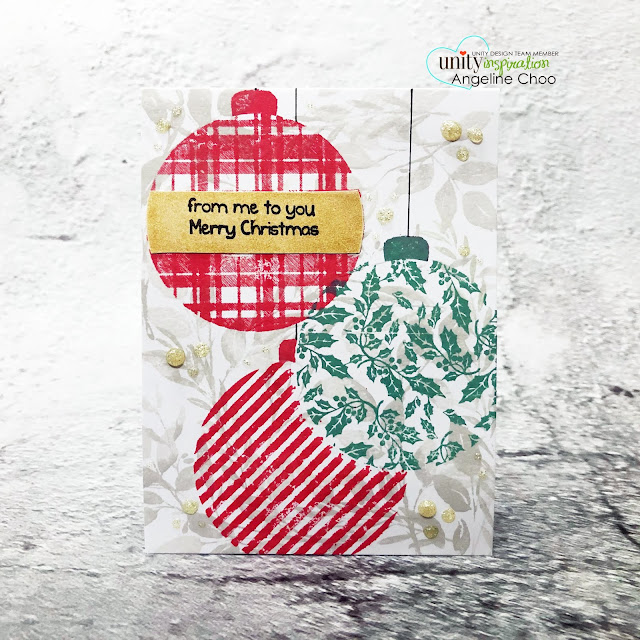 ScrappyScrappy: Unity Stamp Ornament Builders and Holiday inspired - Ornament Builders card #scrappyscrappy #unitystampco #quicktipvideo #youtube #cardmaking #card #stamp #papercraft #ornamentbuilders #altenewdyeink #timholtz #distressoxideink #christmasornament #lisaglanz #layeringstamps #nuvoglitterdrop #christmascard #holidaycard