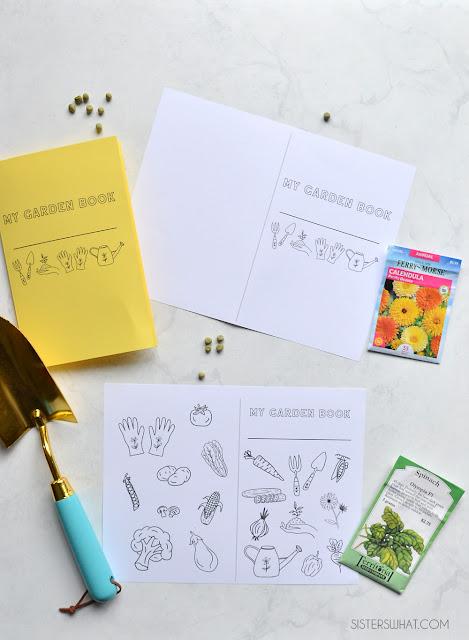 gardening printable mini book for kids