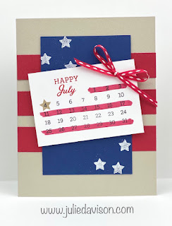 Days to Remember 4th of July Card + Sunday Stamping Video ~ #stampinup ~ www.juliedavison.com