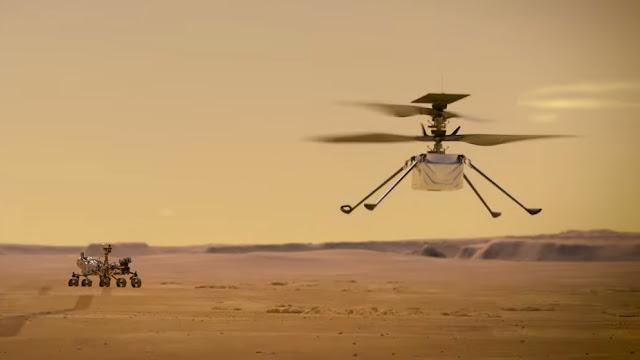drone ingenuity - primeiro helicoptero a voar em outro planeta