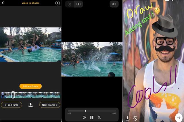 تحميل برنامج Video to Pic لأخذ الصور من الفيديو بجودة عالية للايفون والايباد