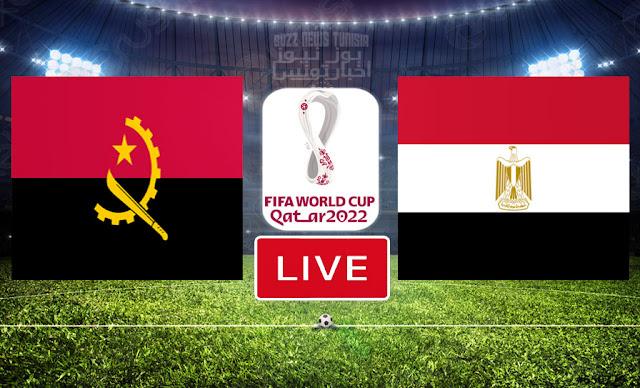Match Egypt vs Angola Live Streaming FIFA World Cup Qatar 2022 Qualifier