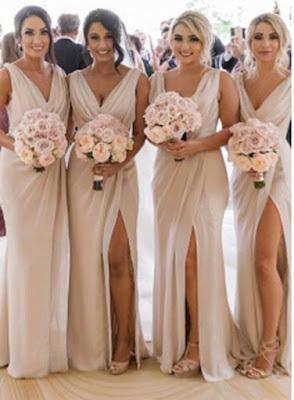 Simple Chiffon Long Bridesmaid Dresses