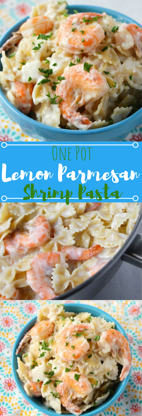 Lemon Parmesan Shrimp Pasta #vegetarian #shrimp #parmesan #cauliflower #easy