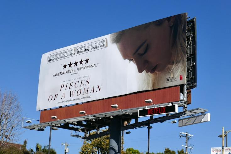 Pieces of a Woman nominee billboard