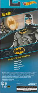 Back of Hot Wheels Batman 5-Pack 2015