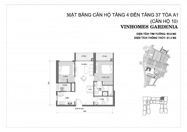 10 - Tòa A1 Vinhomes Gardenia