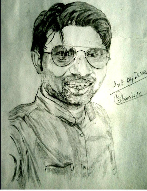 Drawing of Shiv kumar kharwar, Drawing of My Big Brother