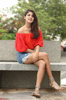 Rhea Chakraborty in Red Crop Top and Denim Shorts Spicy Pics ~  Exclusive 044.JPG