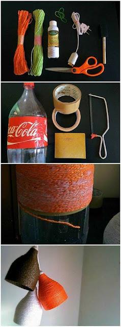 Cómo hacer Manualidades colgantes hechas con botellas de plástico recicladas