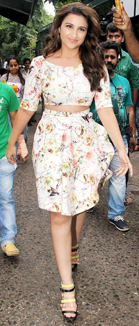 Parineeti chopra floral dress I fashion, style, beauty tips
