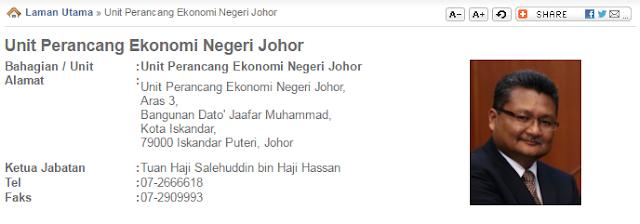Rasmi - Jawatan Kosong (UPENJ) Unit Perancang Ekonomi Negeri Johor Terkini 2019
