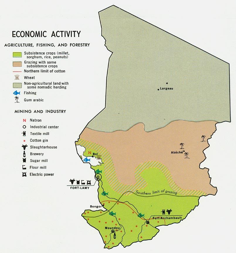 Chade | Mapas Geográficos do Chade