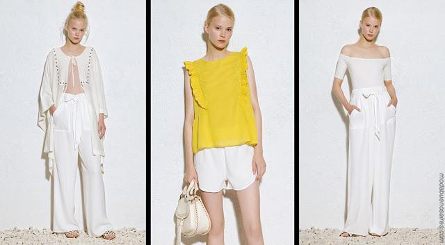 Túnicas, blusas, tops, pantalones, ropa de mujer.  Moda verano 2018.