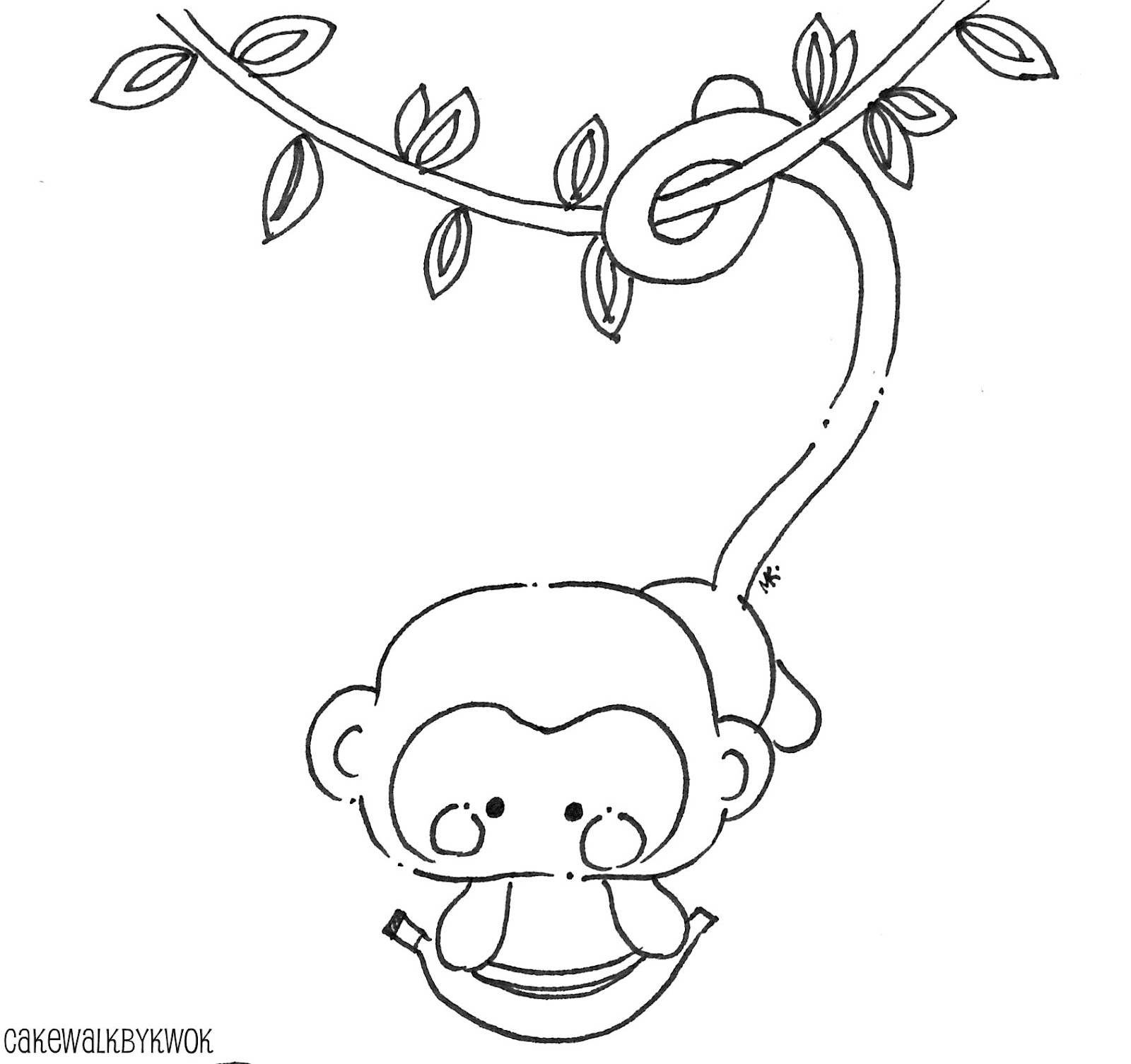 Please And Thank You Coloring Pages Monkey