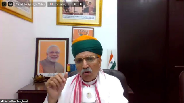 Arjun Ram Meghwal, MOS for Parliamentary Affairs