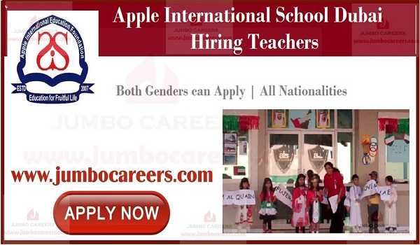 Latset school job openings in Dubai, UAE school job vacancies,