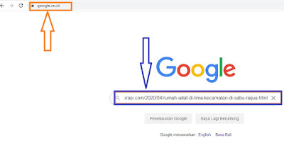 Cara tes apakah Postingan Blog Terindex oleh google