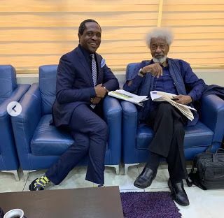 Tonye Cole Narrates How Wole Soyinka Was Disrespectfully Asked By A Young Man In A Plane To Get Up From His Seat