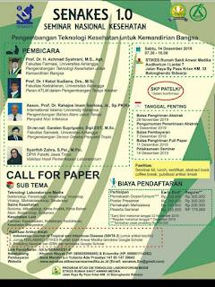 SNAKES 1.0 (Seminar Nasional Kesehatan) STIKES RS Anwar Medika 2019 |  Pengembangan Teknologi Kesehatan untuk Kemandirian Bangsa