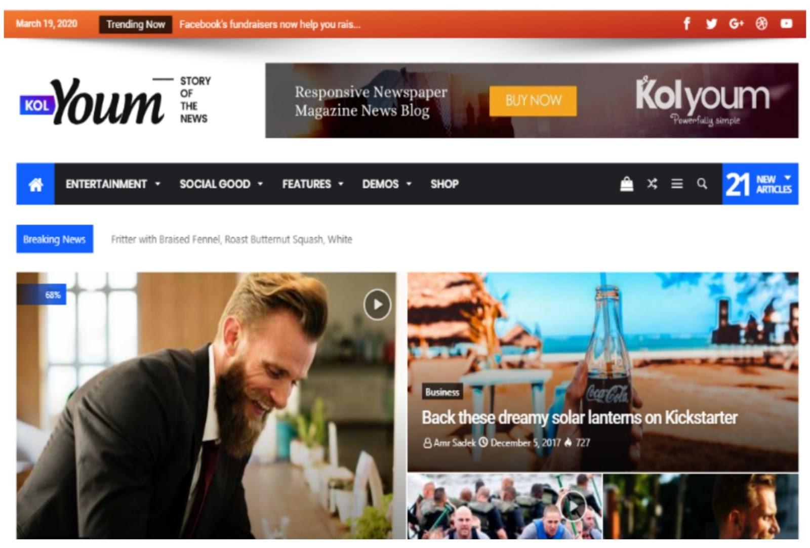 Kolyoum Newspaper WordPress Theme
