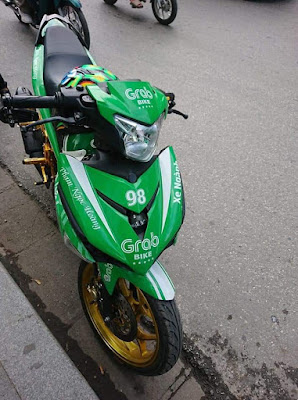 Viral Modifikasi Motor Grab Bike Ini Bikin Kamu Melongo