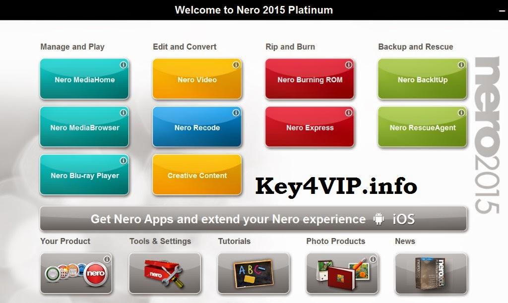 Nero 2015 Platinum 16.0.02900 Final Full Key + Crack, Phần mềm ghi đĩa CD/DVD/Blu-ray chuyên nghiệp