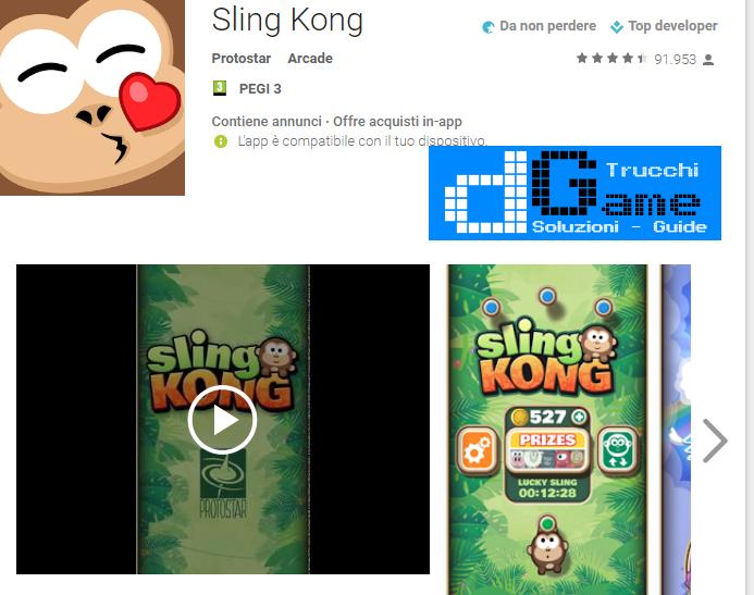 Trucchi  Sling Kong Mod Apk Android v2.1.0