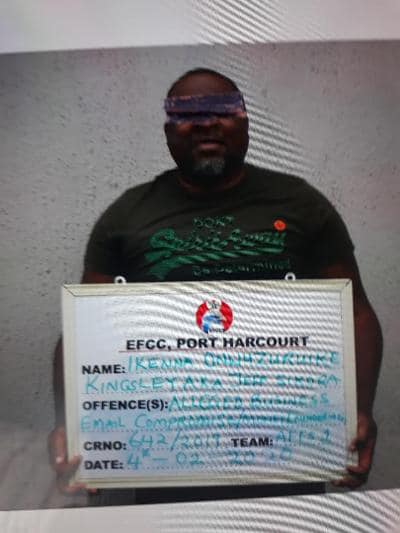 Suspected 'Yahoo Kingpin', arrested by EFCC, mansion and petrol station seized.