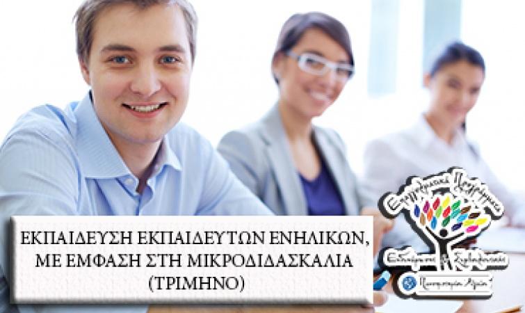 Πανεπιστήμιο Αιγαίου: Εκπαίδευση Εκπαιδευτών Ενηλίκων με έμφαση στη μικροδιδασκαλία