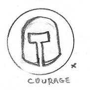 Courage Icon Drawing