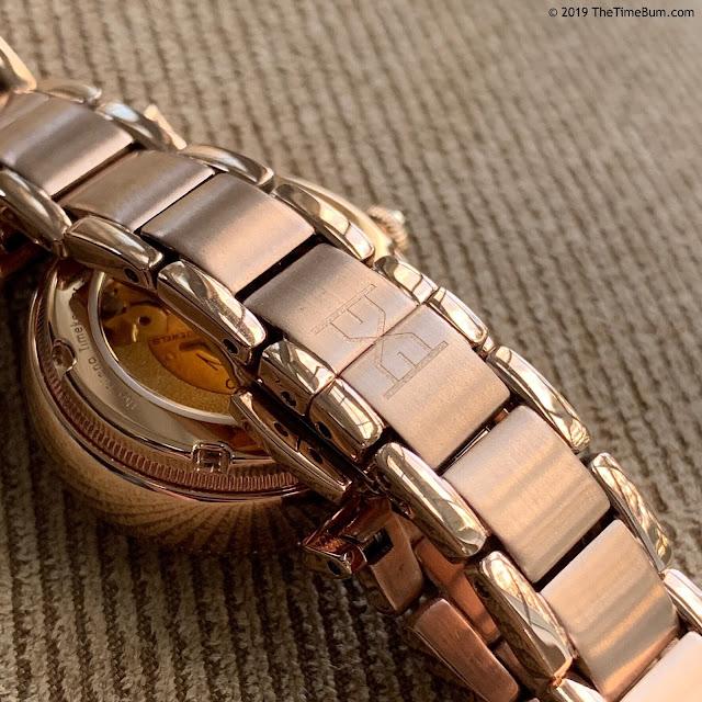 Eliana Timekeeper Twilight Glint rose gold clasp