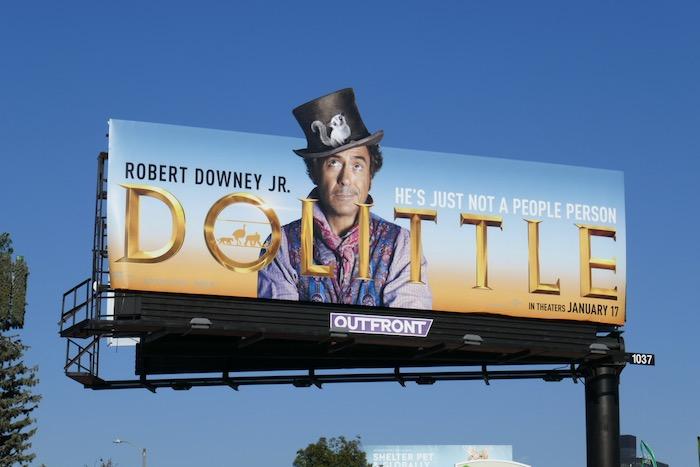 Dolittle movie billboard