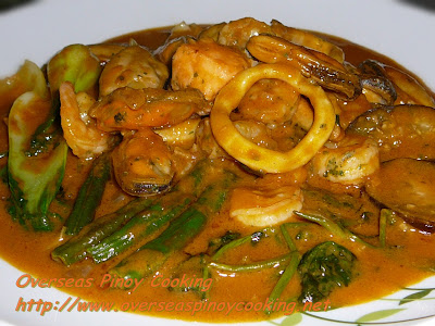 Marinara Seafood Mix Kare Kare