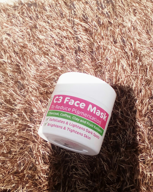 Review of Mama Earth C3 - Charcoal , Coffee and Clay face Mask which helps to tightens and Brightens the skin .