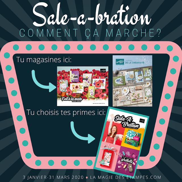 La promotion Sale-a-Bration offre des primes avec achat chez Stampin' Up!