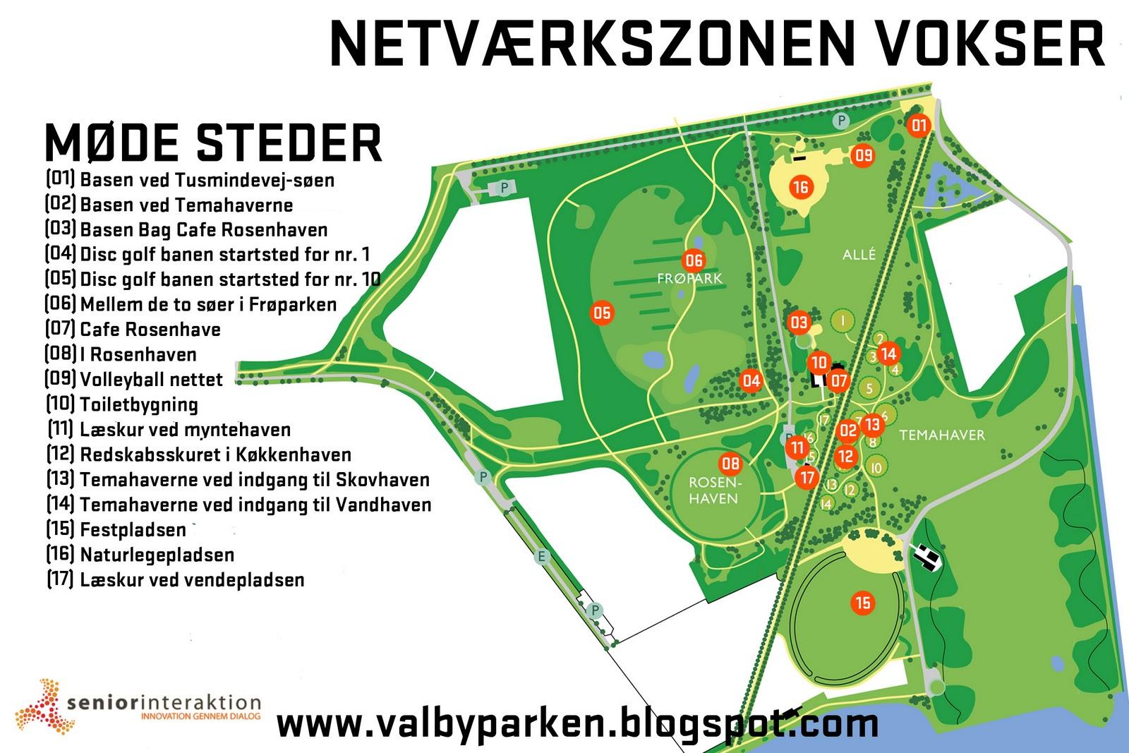 Aktivt Udeliv I Valbyparken Kort Over Parken