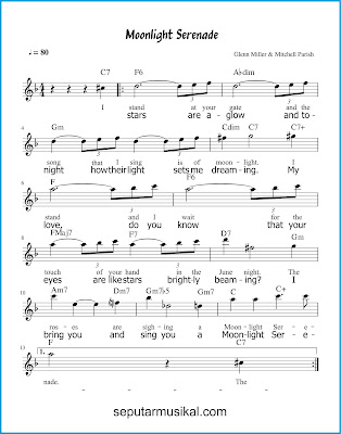 Moonlight Serenade 1 chords jazz standar
