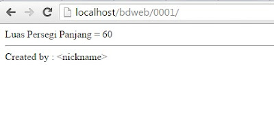 hasil coding php