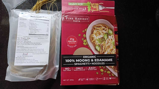Pink Harvest Farms Moong & Edamame Spaghetti Pouch, 200 G