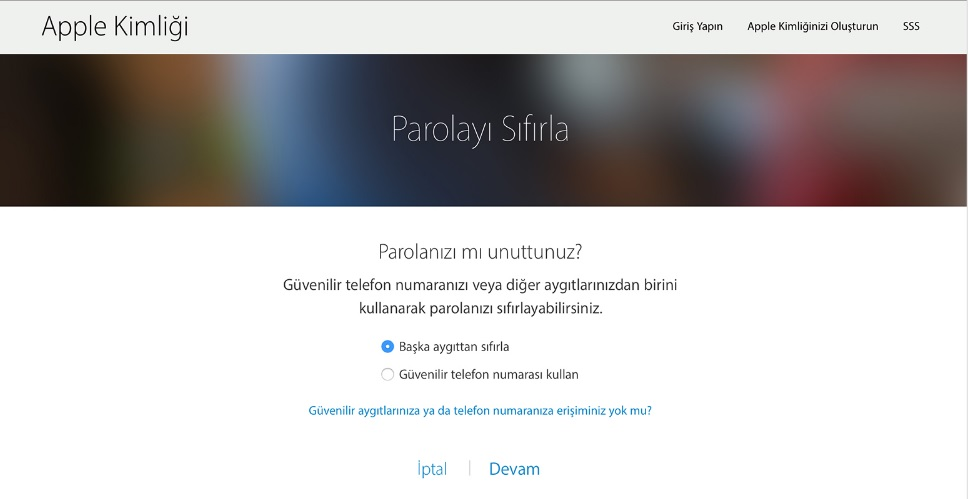 iphone apple kimliği parolası