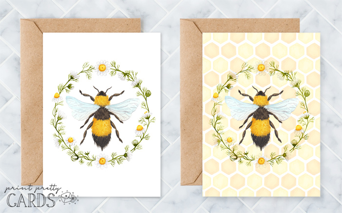 Printable Bee Cards