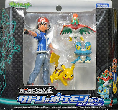 Hawlucha figure in Takara Tomy Monster Collection MONCOLLE Ash & Pokemon Battle Scene set