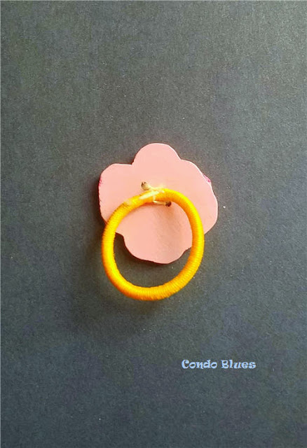 how to make a hair tie from any kind of button
