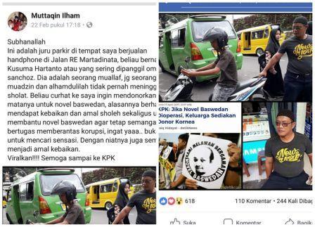Juru Parkir di Sukabumi Siap Donor Mata untuk Novel Baswedan