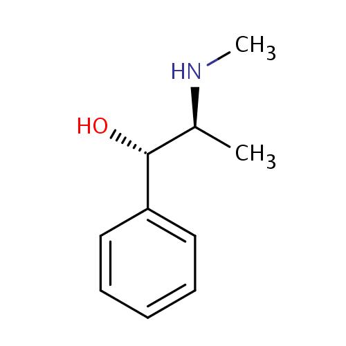 struktur pseudoephedrine (pseudoefedrin)