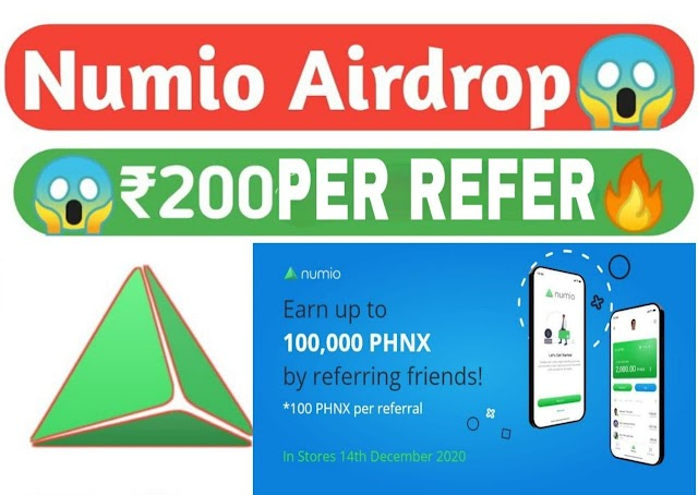 Numio Pay Airdrop Refer earn Offer